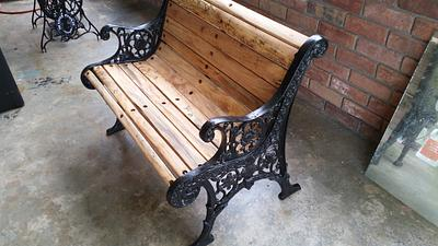 Restored antique bench with spalted pecan - Woodworking Project by Sean