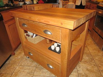 Mobile Kitchen Island - Woodworking Project by oldrivers