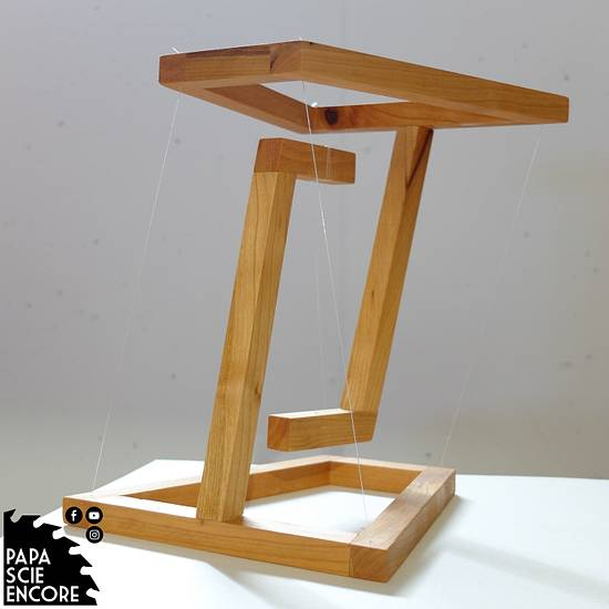 Another impossible table - Tensigrity Sculpture - Woodworking Project by Aurélien