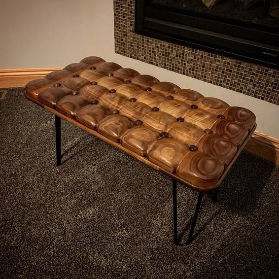 Tufted Walnut Bench - Woodworking Project by BerchtoldDesignBuild