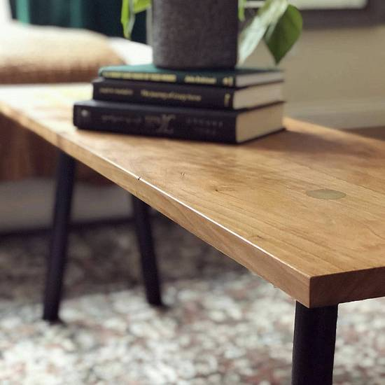 Cherry splayed legged bench - Woodworking Project by dcwoodworking
