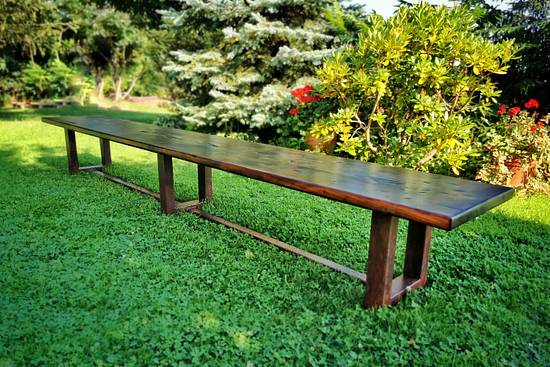 Industrial bench with rusty legs - Woodworking Project by ABELvonRUST