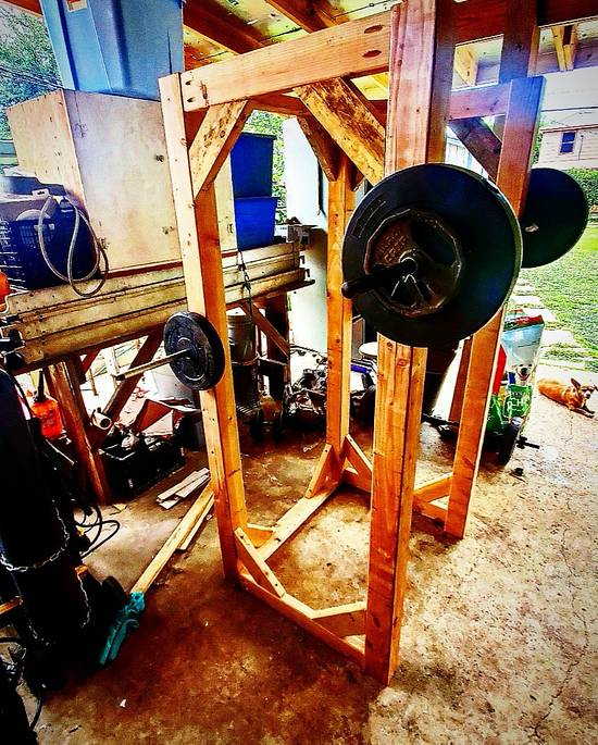 Squat rack  - Woodworking Project by CHINOS_METALWORKS