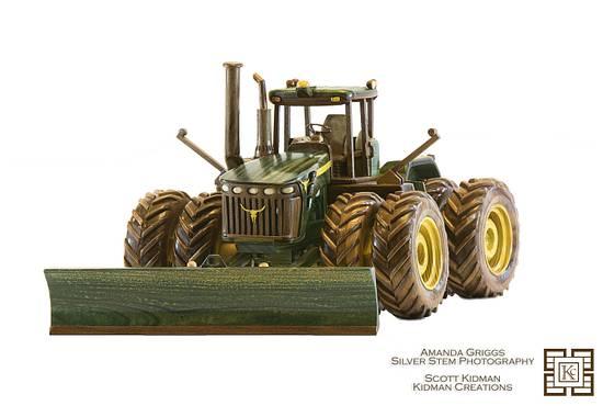 John Deere 9330 Wood Model  - Woodworking Project by Kidmancreations