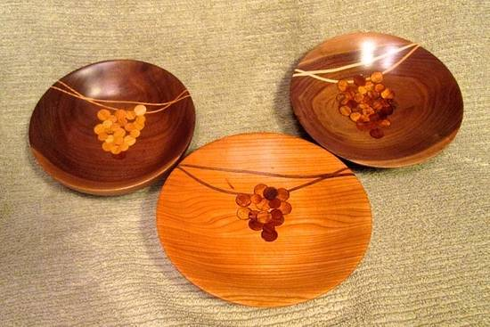 Bowl of Grapes collection - Woodworking Project by jbschutz