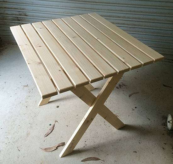 Packing Crate Timber Table - Woodworking Project by Steve Oz-DIY-Handyman