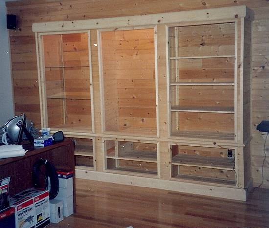 Casework: Lighted Gun and Trophy Cabinet - Woodworking Project by Xylonmetamorphoun