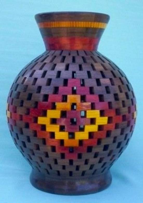 OPEN SEGMENTED VASE - Woodworking Project by Sam Shakouri