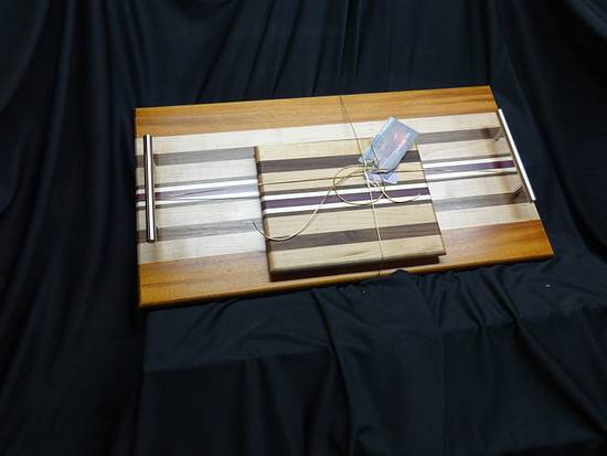 A Serving Tray with Matching Cheese Board - Woodworking Project by Ellen