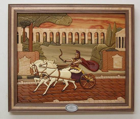 Roman Chariot Intarsia - Woodworking Project by Woodworking Plus