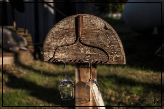 Wine Glass Rack - Woodworking Project by Railway Junk Creations