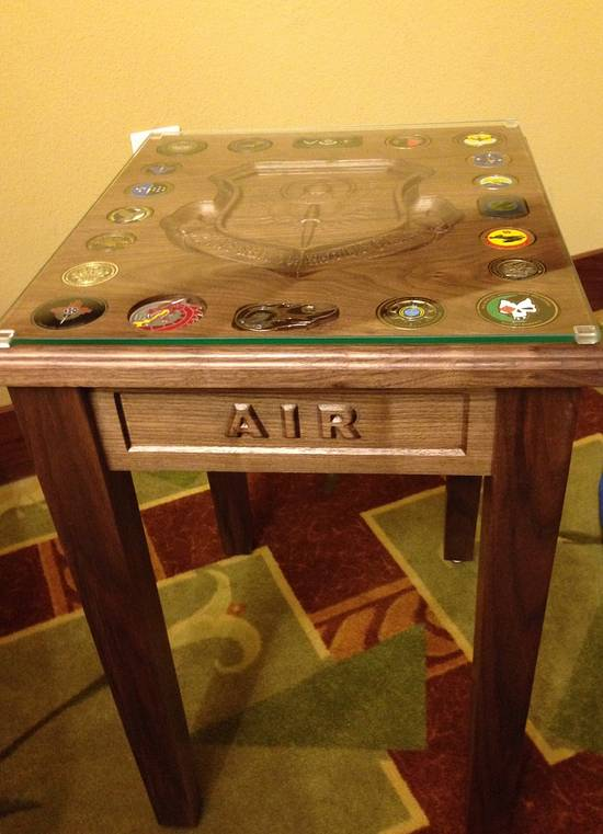 Military Shadow Box & Table - Woodworking Project by WORM