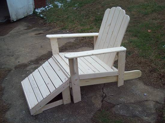 another chair with foot stool - Woodworking Project by jim webster