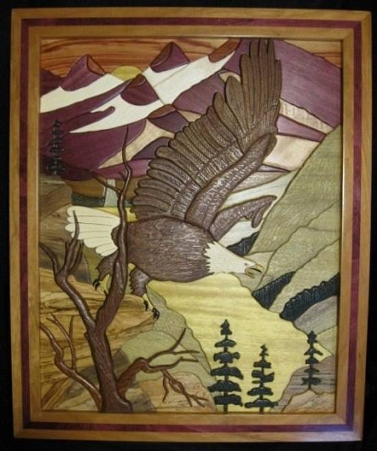 Eagles Realm Intarsia - Woodworking Project by Woodworking Plus