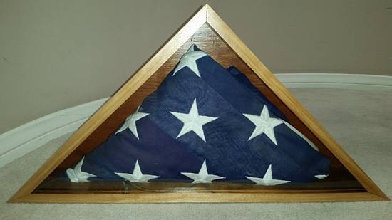Memorial Flag Display Case - Woodworking Project by Rayner Custom Woodworks