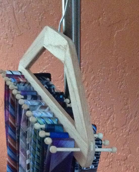 Tie hanger - Woodworking Project by Robert Marchant