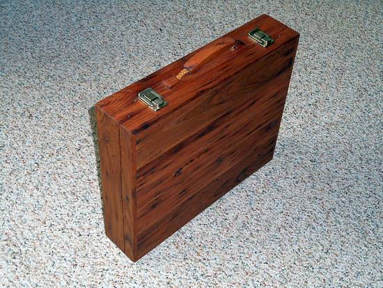 American Chestnut Briefcase - Woodworking Project by JayKayPur