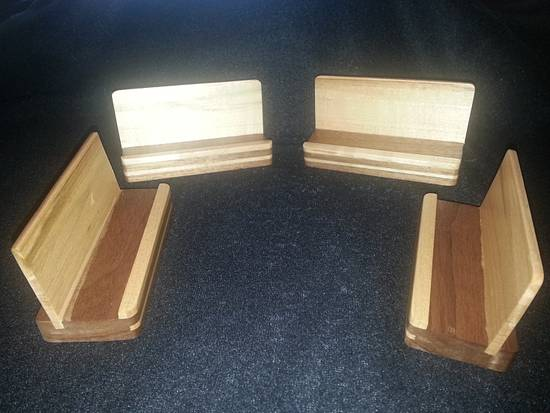 Business Card Holders - Woodworking Project by Jeff Vandenberg