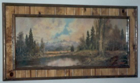 Rusitic Scenery Picture Frame - Woodworking Project by Kelly