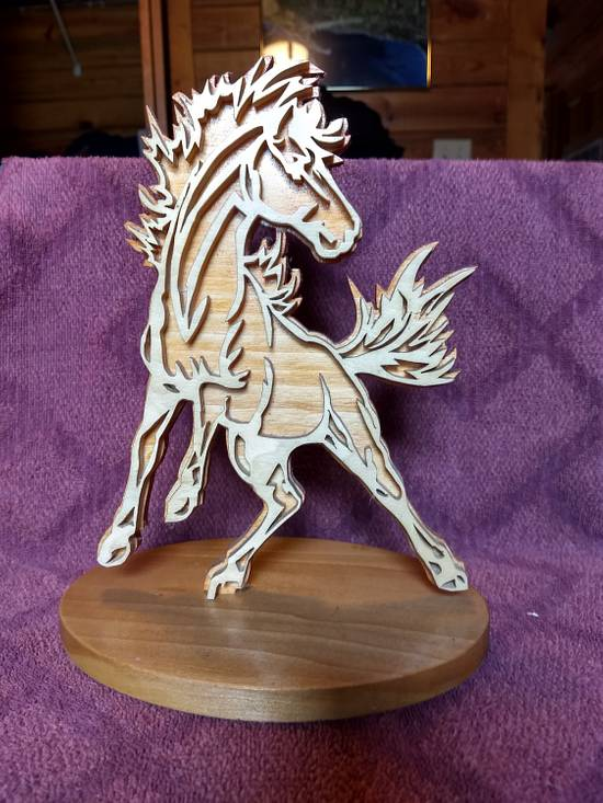 Stallion - Woodworking Project by BIGREDD