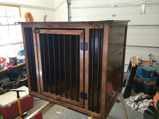 Closed in Dog Crate/Kennel  - Woodworking Project by Sheri Noble, woodworking at it's finest!