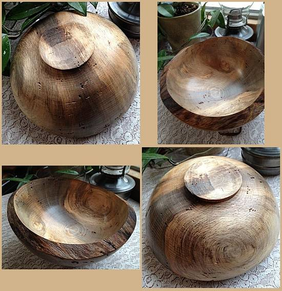 Beetle kill blue pine burl bowl.. - Woodworking Project by Timber