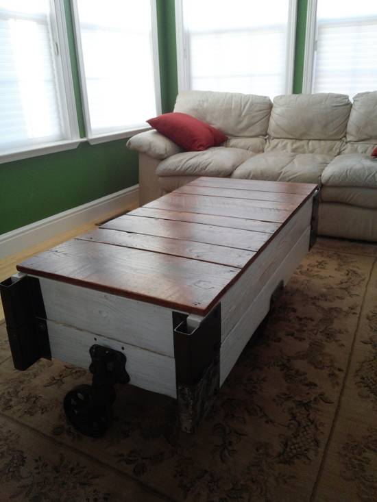 Factory Cart Coffee Table Hope Chest  - Woodworking Project by Justin