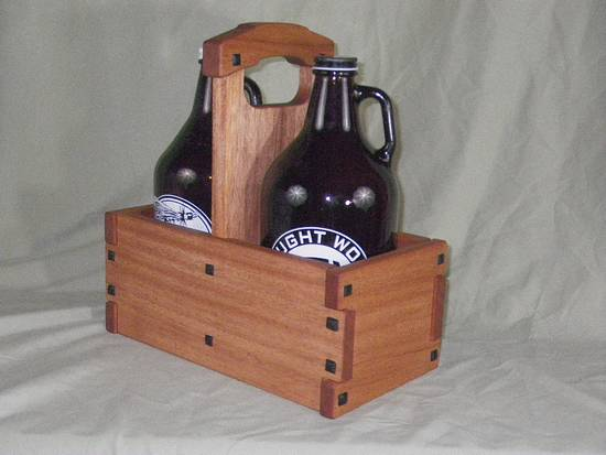 Greene and Greene Growler Tote - Woodworking Project by Bondo Gaposis