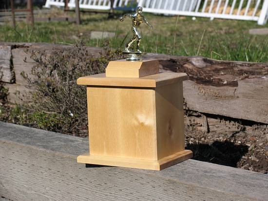 Bowling Trophy - Woodworking Project by Railway Junk Creations