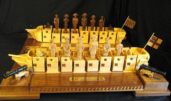 War of 1812 Chess Set by Jim Arnold - Woodworking Project by JimArnold