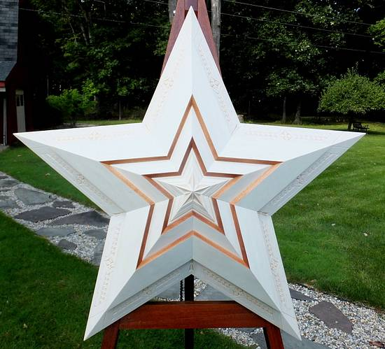 Layered star wall hanging - Woodworking Project by Roger Strautman