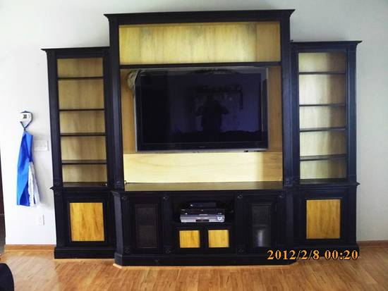entertainment center - Woodworking Project by barnwoodcreations