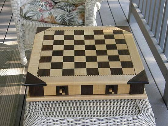 Chess Board and Pieces - Woodworking Project by MontanaBob