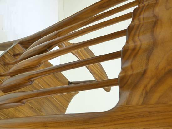 Sam Maloof Style Rocking Chair Walnut Rocker Burl Veneer Carved Sculpture - Woodworking Project by Mark DeCou Studio