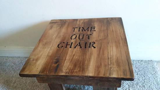 Toddler Time Out Chair - Woodworking Project by Ben Buxton