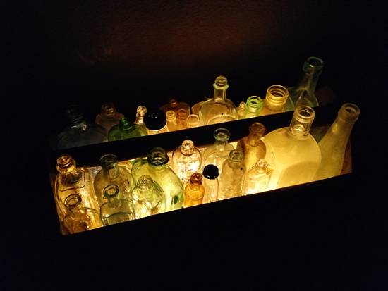 Toolbox Bottle Lamp - Woodworking Project by Justin