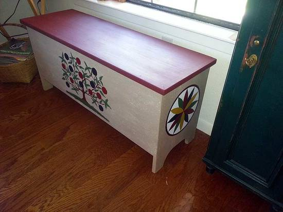 Milk Painted 6-Board Chest - Woodworking Project by HorizontalMike
