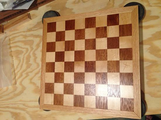 Chess/Checkers Board - Woodworking Project by Roushwoodworking