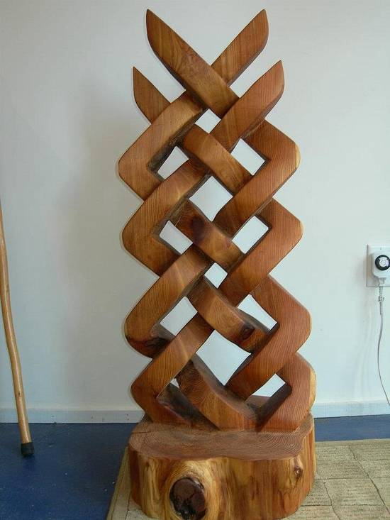 Celtic knot sculpture - Woodworking Project by Carver