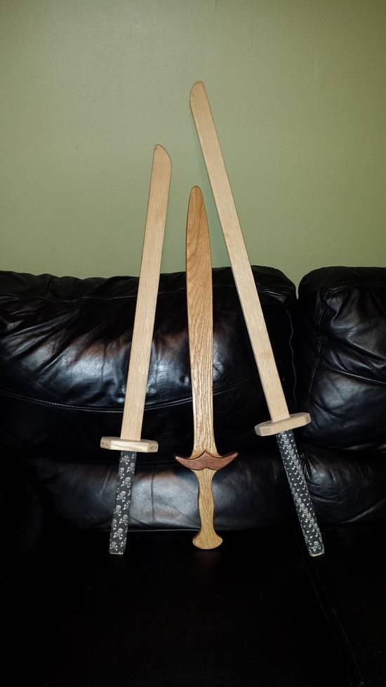 Wooden Swords  - Woodworking Project by Mitch Breault