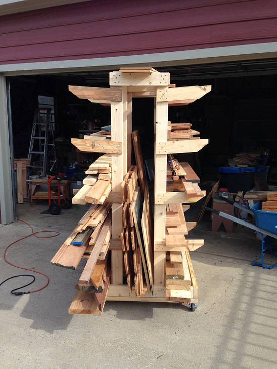 Mobil Lumber Rack - Woodworking Project by Whittler1950