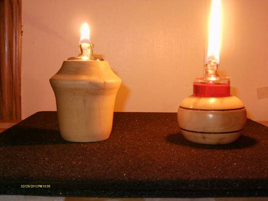 Oil Lamps - Woodworking Project by Rustic1