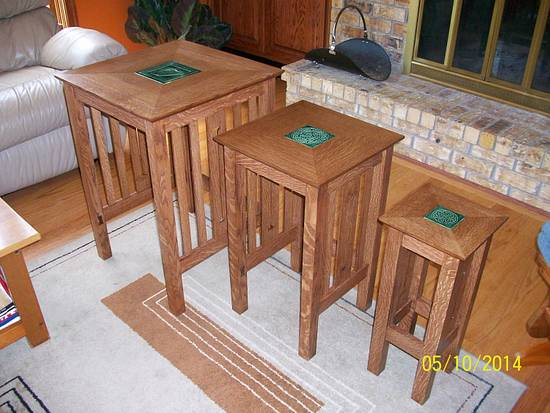 Nesting tables - Woodworking Project by BJ