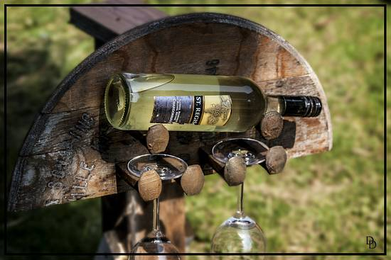 Wine and Wine Glass Rack - Woodworking Project by Railway Junk Creations