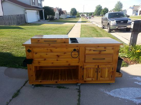 Cooler Party Cart - Woodworking Project by Jeff Vandenberg