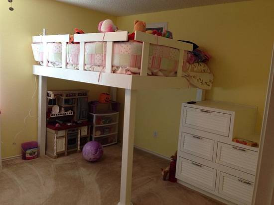 Daughters Loft Bed - Woodworking Project by TonyCan