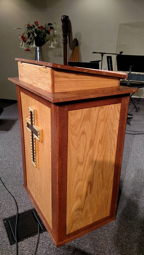 Church Pulpit - Woodworking Project by craigdoesthat