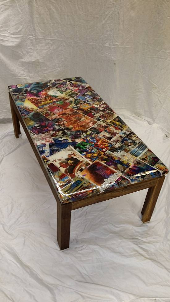 marvel table top coffee table - Woodworking Project by flashfire