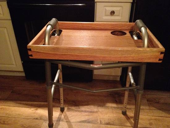 Walker tray - Woodworking Project by Roy Dille-Hayes