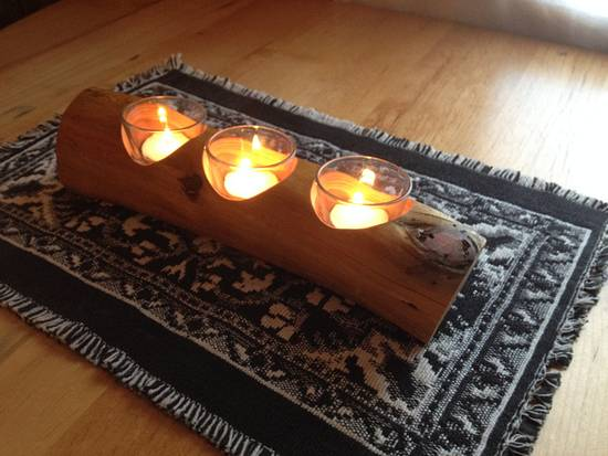 Candle Holder - Woodworking Project by Railway Junk Creations